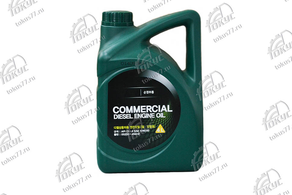 Масло моторное Commercial Diesel Engine Oil SAE 10W/40 CI-4 (4л)